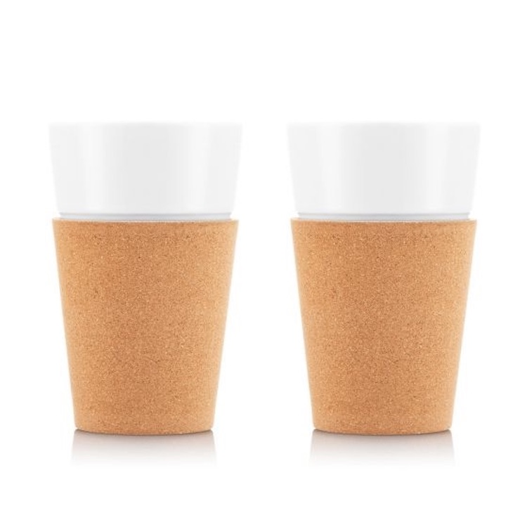 Bodum 20 oz. Porcelain Mug with Cork Sleeve Set