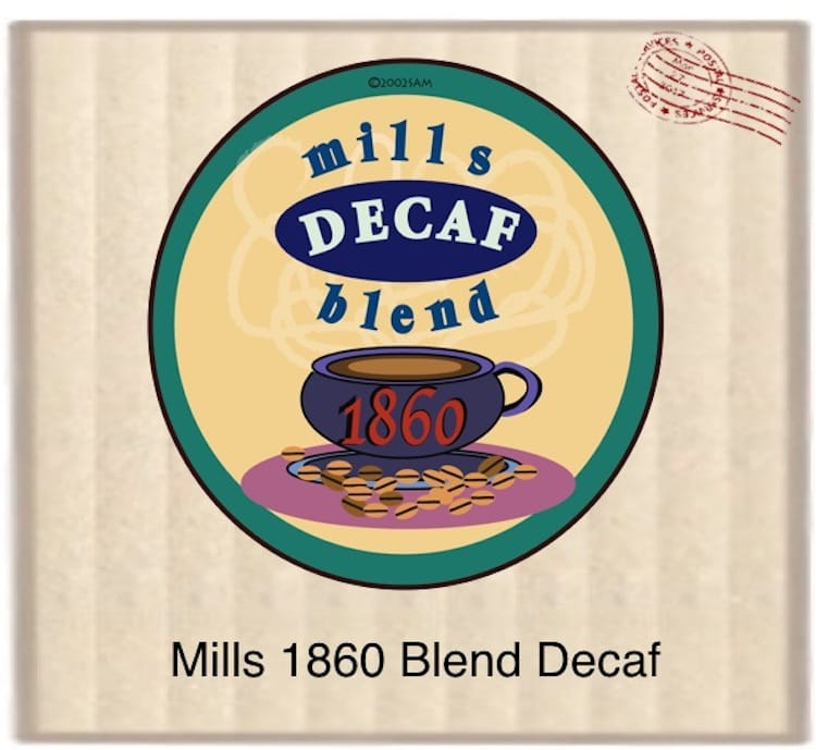 Mills 1860 Blend Decaf 24 Count 2.5oz. bags