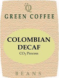 Colombian CO2 decaf -- GREEN